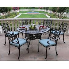 kingston 7 piece round patio dining