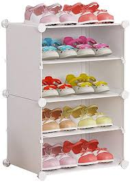 Amazon Com Liting Shoe Rack Plastic Children S Kids Cartoon Shoe Cabinet Student Cute Door Small Shoe Rack Storage Box Size 4 Layers Home Kitchen