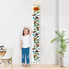 Amazon Com Baby Growth Chart For Kids Height Chart Ruler For Kids Height Measurement Chart Wall Decals For Kids Room Bedroom Living Room Baby