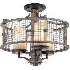 rustic ceiling light with dual mount