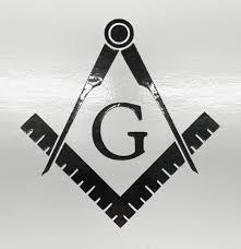 Amazon Com Masonic Series Freemason Compass Square Decal Sticker Black Reflective 2pack 3 X 3 Vinyl Decal Automotive