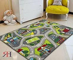 Kids Car Road Rugs City Map Play M
