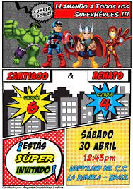 Digital Superheroe Invitation Cumpleanos Nino Boy Birthday