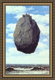 rene magritte The Castle of The Pyrenees 1959 Framed Painting for ...