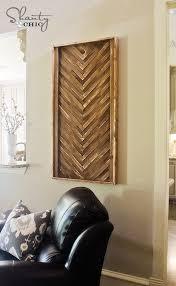 diy wall art from wood shims wood