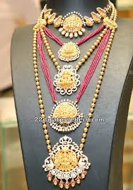 lakshmi gold beads haram by tanishq