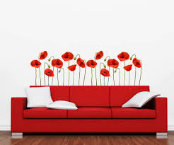Exclusive Poppies Wall Decal From Ey Decals
