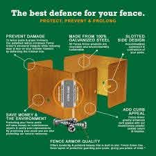 Amazon Com Protect Your Fence With Fence Armor 4 X 4 Fits 3 5 X 3 5 Posts 4 Packs Of 10 40pcs Fencing Tools Garden Outdoor