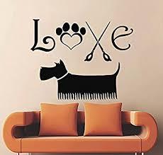 grooming salon wall decal vinyl