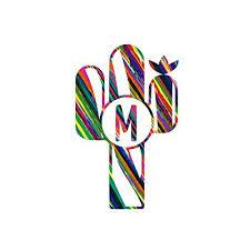Serape Pattern Monogram M Cactus Decal For Car Tumbler Cup Or Laptop Handmade Cjp Org In