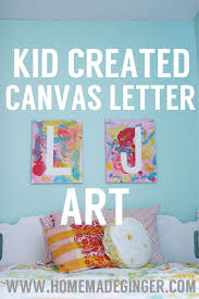 Diy Canvas Art For Kids Homemade Ginger