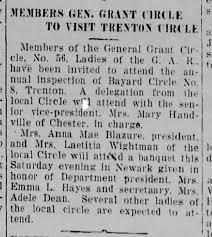 Adele Dean, Emma Hayes GAR Circle, Bernardsville News, Thu 06 Oct 1938,  page 4 - Newspapers.com