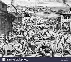 Jamestown Massacre, 1622 Stock Photo: 135045372 - Alamy