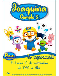 Invitacion Pororo The Little Penguin El Pequeno Pinguino 210