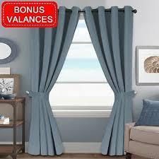 Kids Furniture Decor Storage H Versailtex Stone Blue Blackout Curtains All Season Thermal Insulated Grommet
