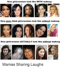 look like with makeup how guys think