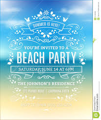Beach Party Flyer Retro Buscar Con Google Invitaciones