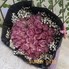 بوكيه ورد طبيعي هدية زعلان مريض أخ هدايا سومر Sumer