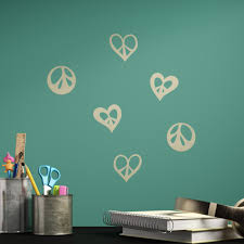 Trule Peace Signs And Hearts Wall Decal Wayfair