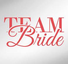 Team Bride Quote Wall Sticker Tenstickers