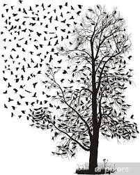 Crows In A Tree Chestnut Wall Mural Pixers We Live To Change