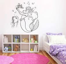 Princess Ariel Wall Decal Little Mermaid Wall Decor Etsy In 2020 Wall Decor Stickers Mermaid Wall Decor Vinyl Wall Decals