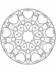 Kleuren Nu Mandala Hartjes Kleurplaten