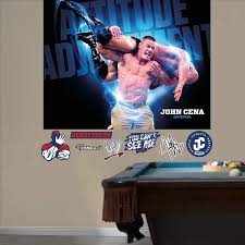 Amazon Com Fathead Wall Decal Wwe John Cena Attitude Adjustment Mural Home Kitchen