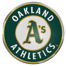 Oakland Athletics Color Emblem 3 Car Team Decal