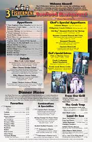 Three Fishermen Seafood Restaurant menu ...