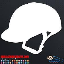 Equestrian Helmet Car Window Vinyl Decal Sticker Graphic