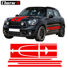 For 1set 2pcssticker Decal For Mini Countryman R60 Side Stripes Cooper Door Mirror Jcw Handle Car Styling Color Name As Picture Exterior Accessories Itrainkids Com