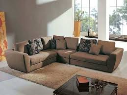 agreeable grey carpet and brown sofa