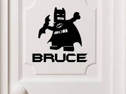 Lego Batman Personalized Vinyl Wall Decal Decals By Droids