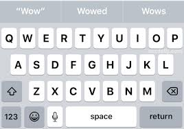 change the keyboard to uppercase letter