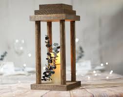 "12"" Wood lantern wedding centerpiece, Rustic Wedding Decor ..."