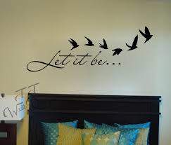 Let It Be Wall Decal Family Room Wall Vinyl Bedroom Etsy