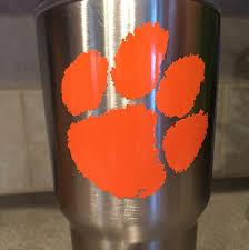 Clemson Tigers Vinyl Yeti Car Decal By Allisonscustomdesign Yeti Car Unique Items Products Vinyl