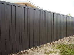 20 Gorgeous Black Wooden Fence Design Ideas For Frontyards Backyard Fences Metal Fence Panels Wooden Fence