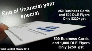 end of financial year promo print brokers a