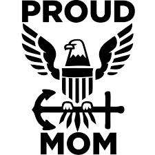 Proud Navy Mom Decal 904 Custom