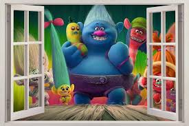 Trolls Movie 3d Window Decal Wall Sticker Home Decor Art Mural H670 Huge Visit The Image Link More Marvel Bedroom Decor Trolls Bedding Wall Stickers Home