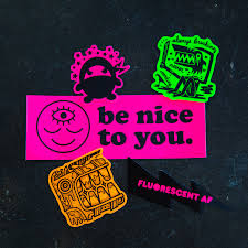 Fluorescent Stickers Sticker Ninja