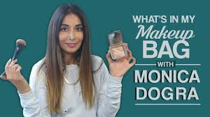 monica dogra what s in my makeup bag