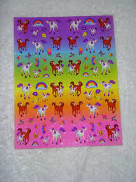 Lisa Frank Stickers Rainbow Chaser And Lollipop Horse Stickers Etsy