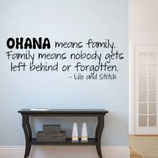 Ohana Means Family Wall Sticker Quotes Lettering Words Vinyl Wall Decal Art Mural Home Decor Home Decor Family Wall Stickervinyl Wall Decals Aliexpress