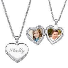 custom engraved heart locket necklace