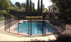 Black Pool Fence With Self Closing Gate Pool Pool Fence California Pools