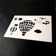 5pcs Of A4 Reusable Nusery Stencils For Wall Painting Kid Room Cloud Star Moon Air Balloon Ufo Rocket Acrylic Paints Chalk Paint Stencils Aliexpress