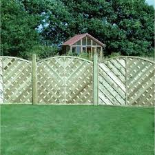 V Arched Fence Panel Solid 1 5m Wooden Supplies
